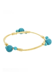 Mimi's Gift Gallery Turquoise Gold Bangle - Product Mini Image
