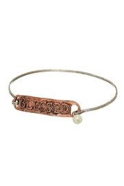 Mimi's Gift Gallery Two-Tone Blessed Bangle - Product Mini Image