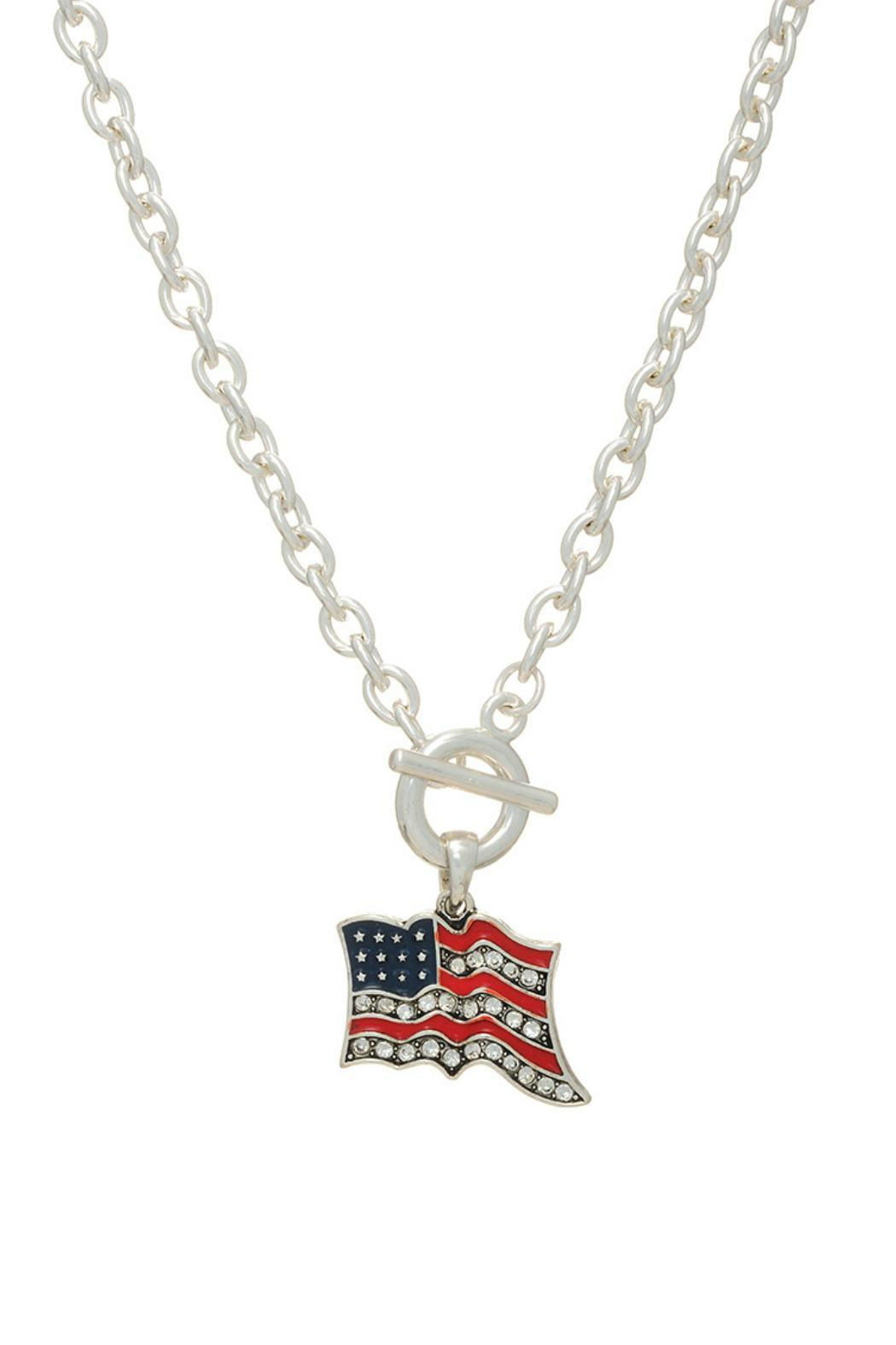patriot us flag link usa pendant necklace gold tag american chain itm dog silver