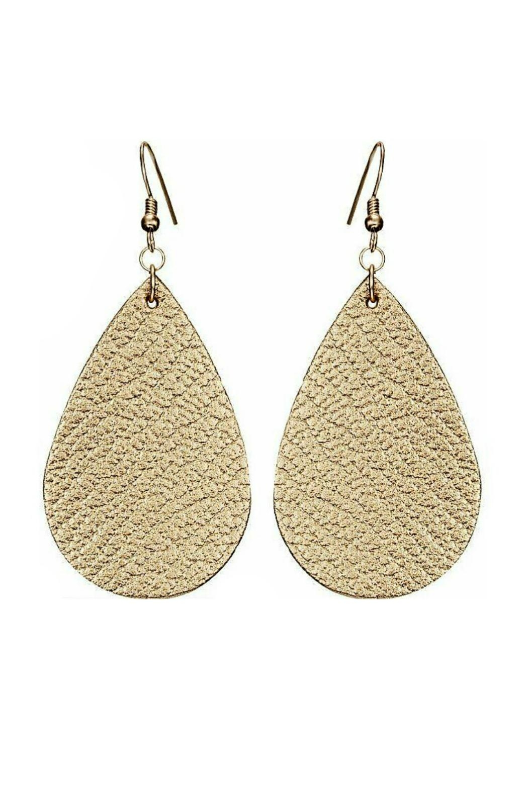 Mimi's Gift Gallery Vegan Leather Earrings - Front Cropped Image