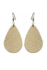 Mimi's Gift Gallery Vegan Leather Earrings - Front cropped