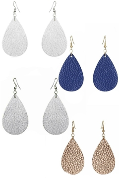 Mimi's Gift Gallery Vegan Leather Earrings - Product List Image