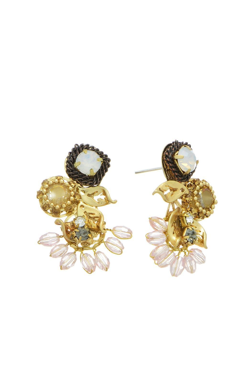 Mimi's Gift Gallery Vintage Crystal Earrings - Front Cropped Image