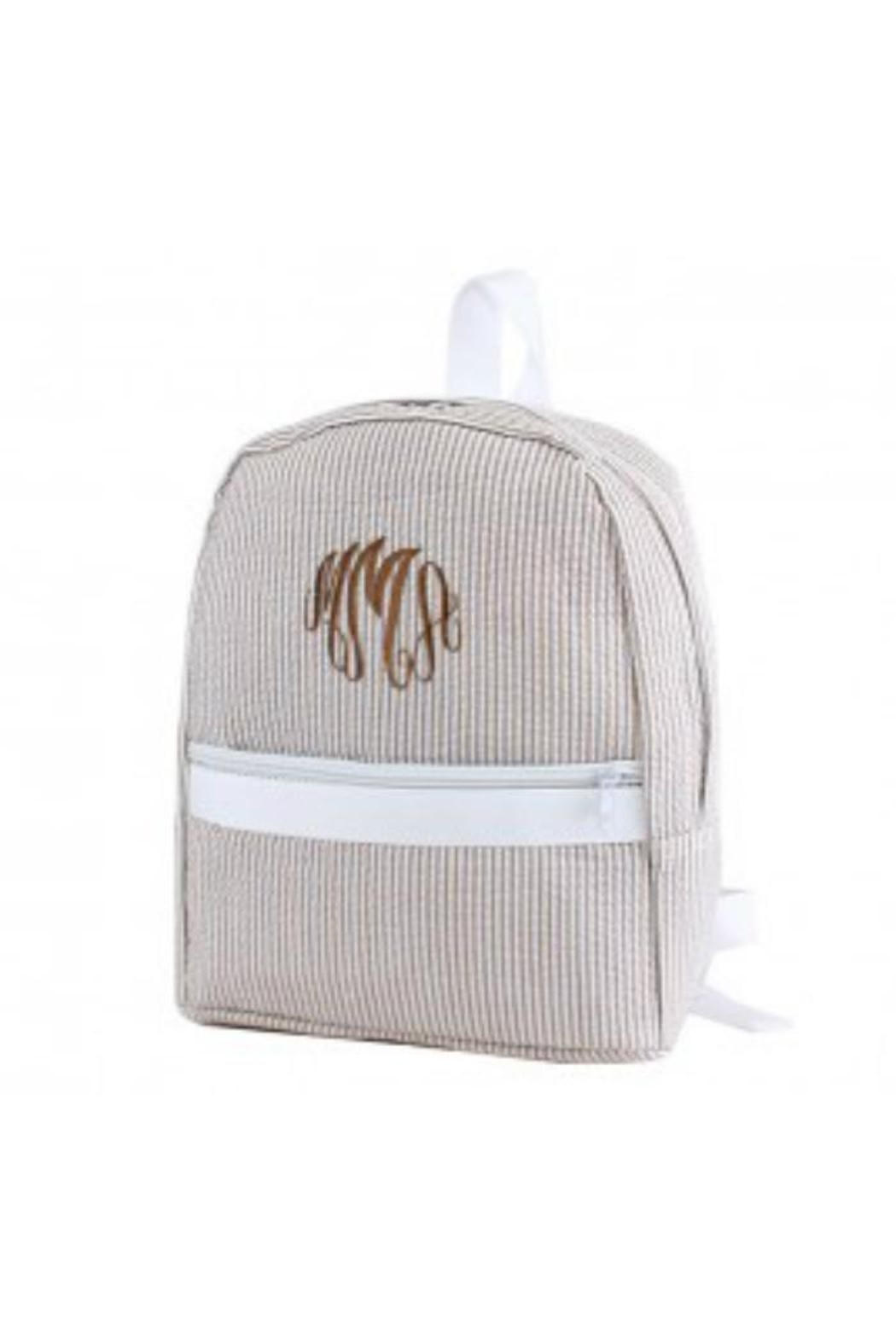 Mimi Seersucker Small Backpack - Front Cropped Image