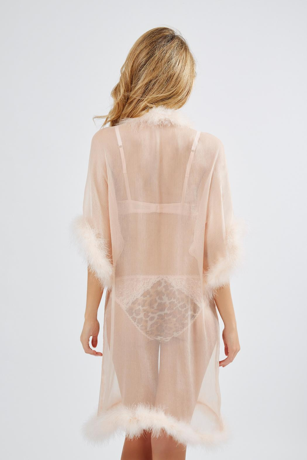 8a3be0bfdae36 Mimi Holliday Maribou Silk Robe from Canada by Esprit de la Femme ...