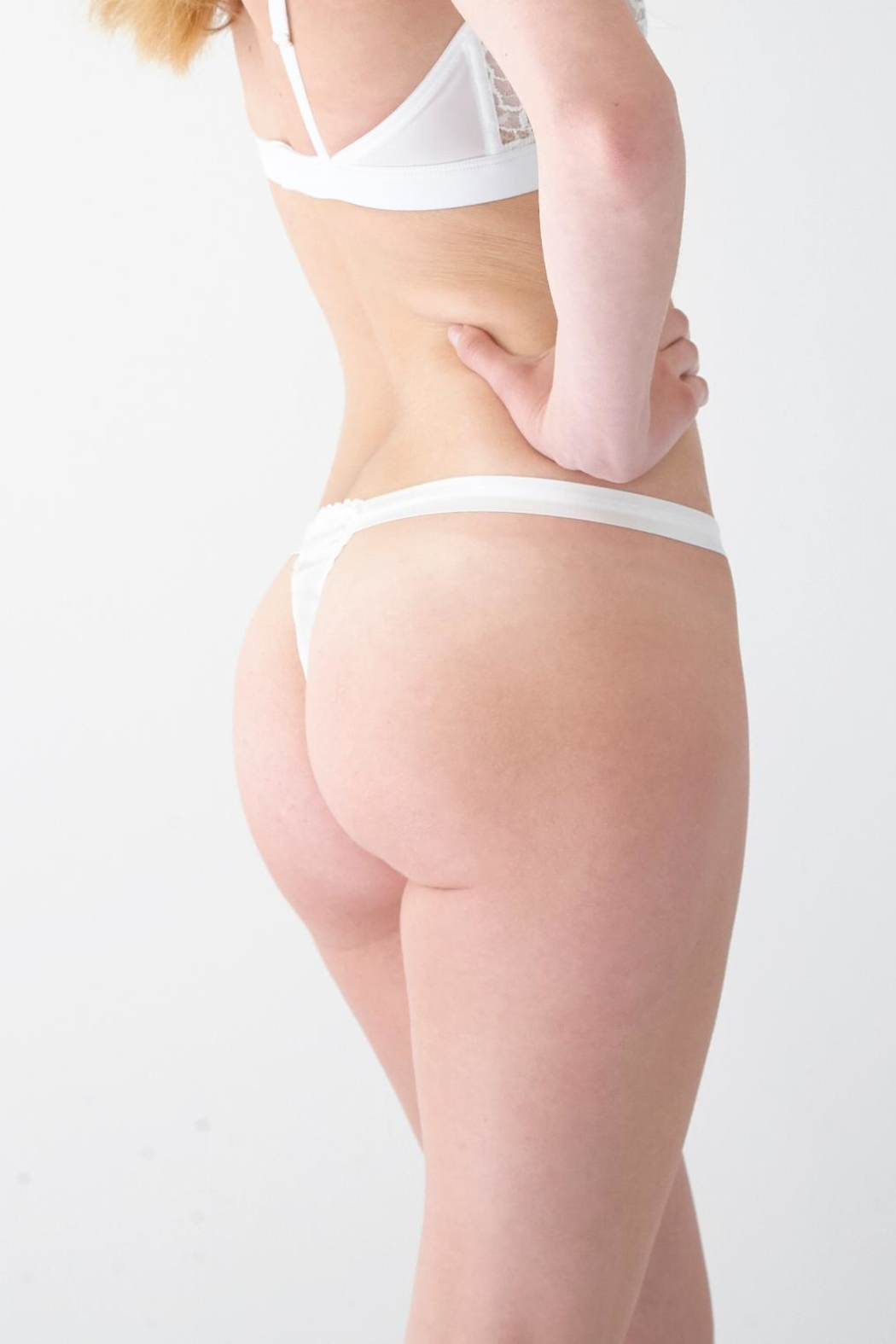 Mimi Holliday Silk Trimmed Thong - Front Full Image
