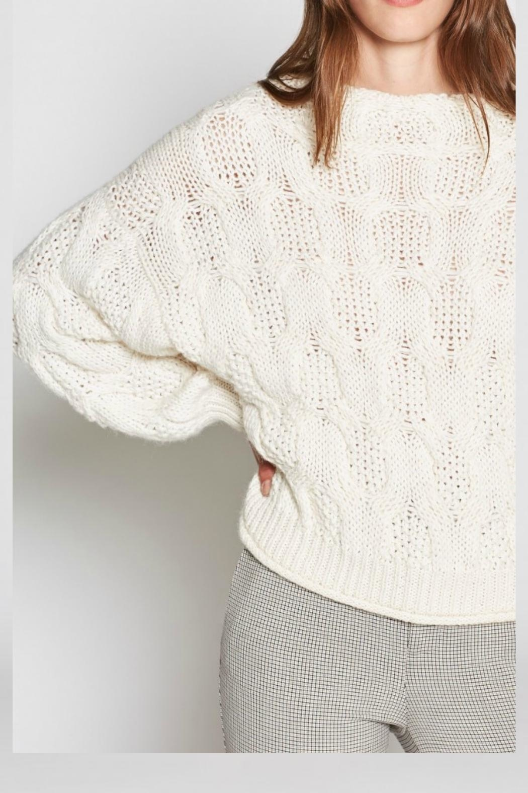 Joie Minava Cable Sweater - Side Cropped Image