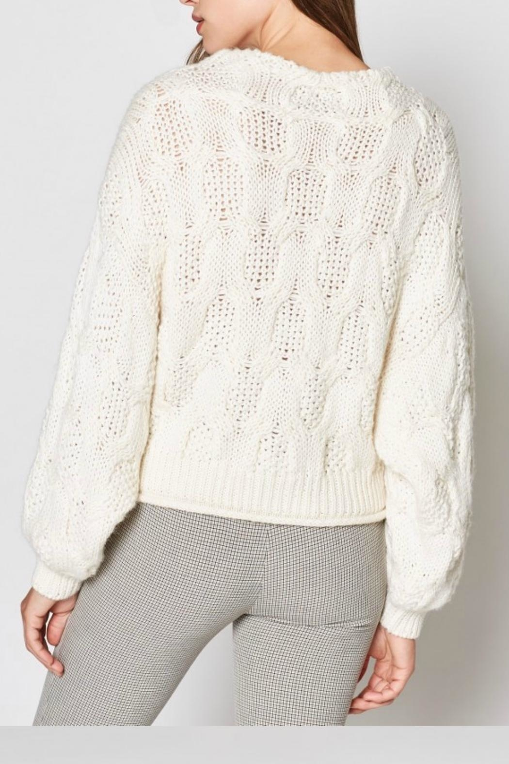 Joie Minava Cable Sweater - Back Cropped Image