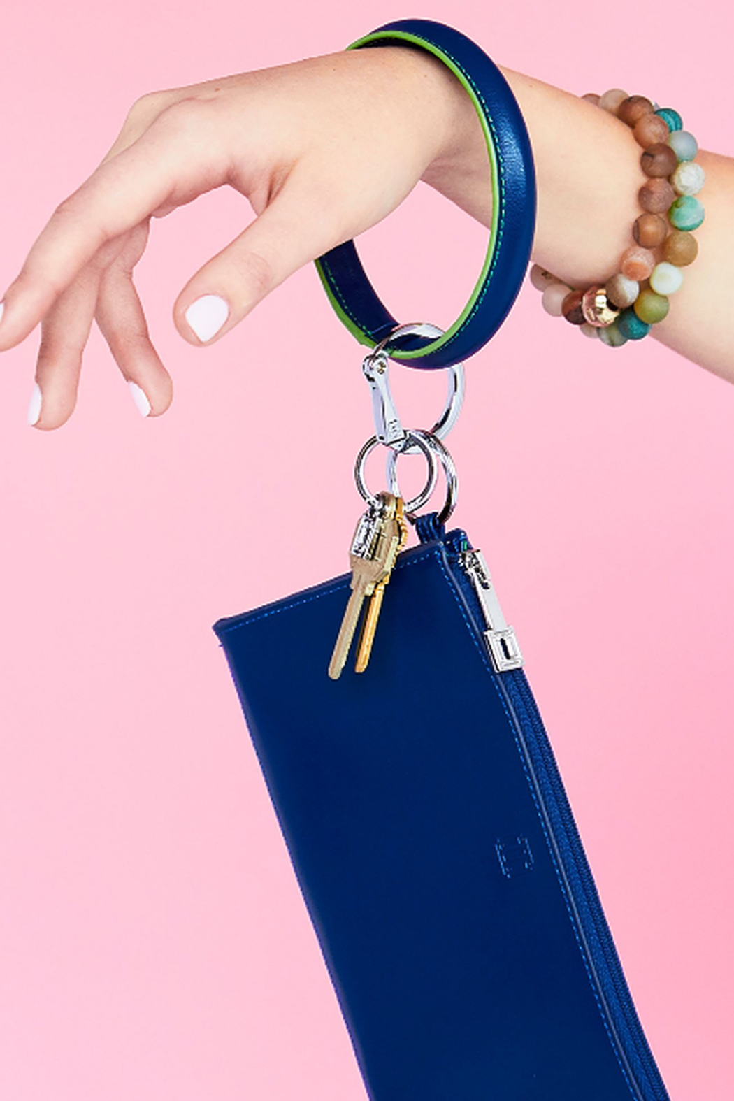The Birds Nest MIND BLOWN BLUE- BIG OSSENTIAL WALLET - Front Full Image