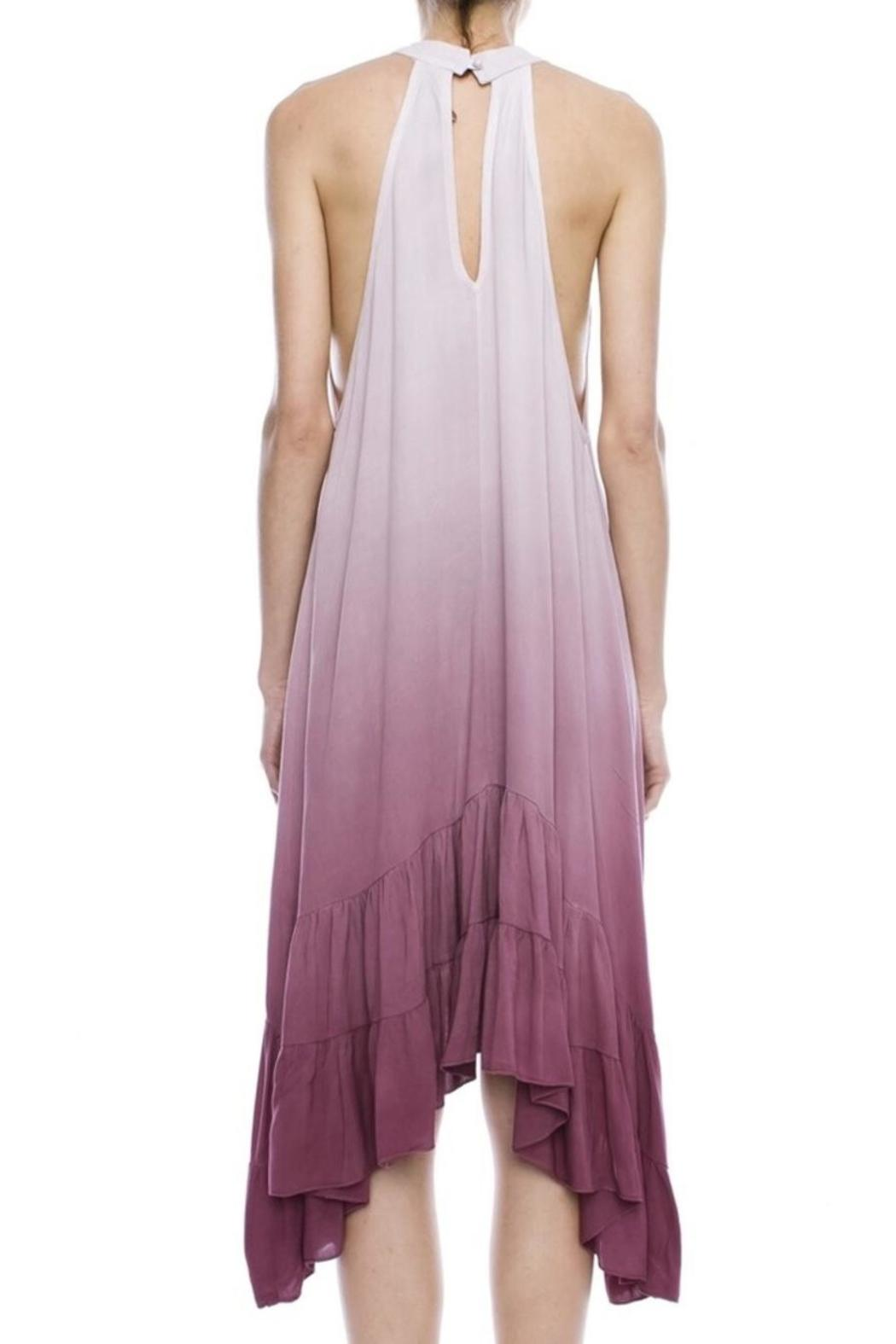Mind code/Mono B Ombre Halter Dress - Front Full Image