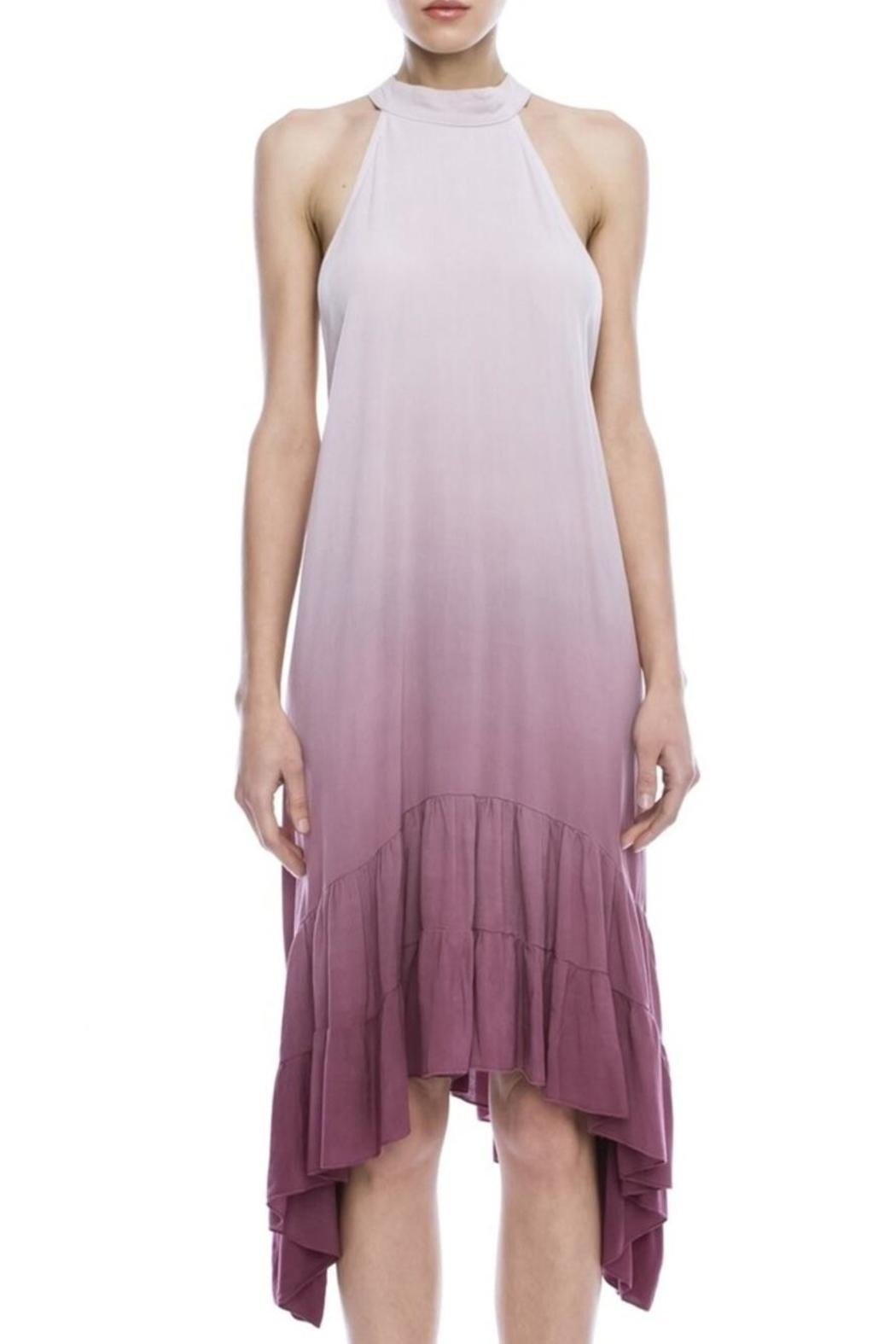 Mind code/Mono B Ombre Halter Dress - Main Image