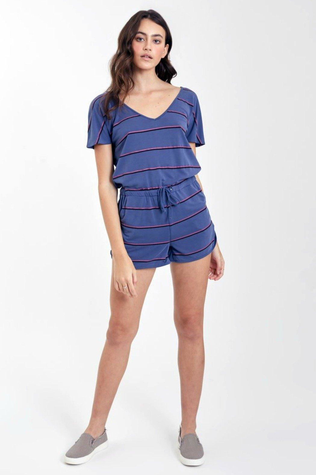Another Love Mindy Striped Romper - Main Image