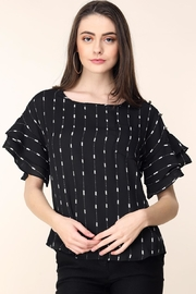 Mine Black Arrow Stripes Blouse - Product Mini Image