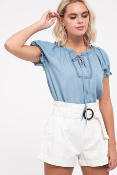 Mine Chambray Tie Top - Product List Image