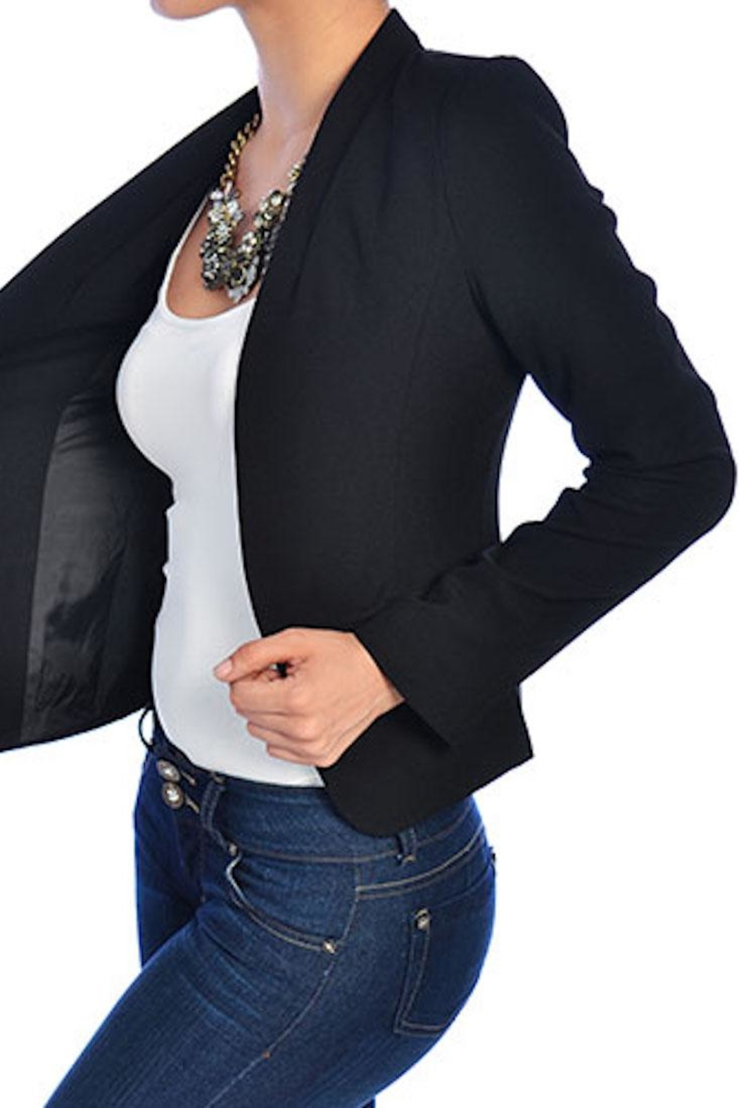 Mine Classic Black Blazer - Front Cropped Image