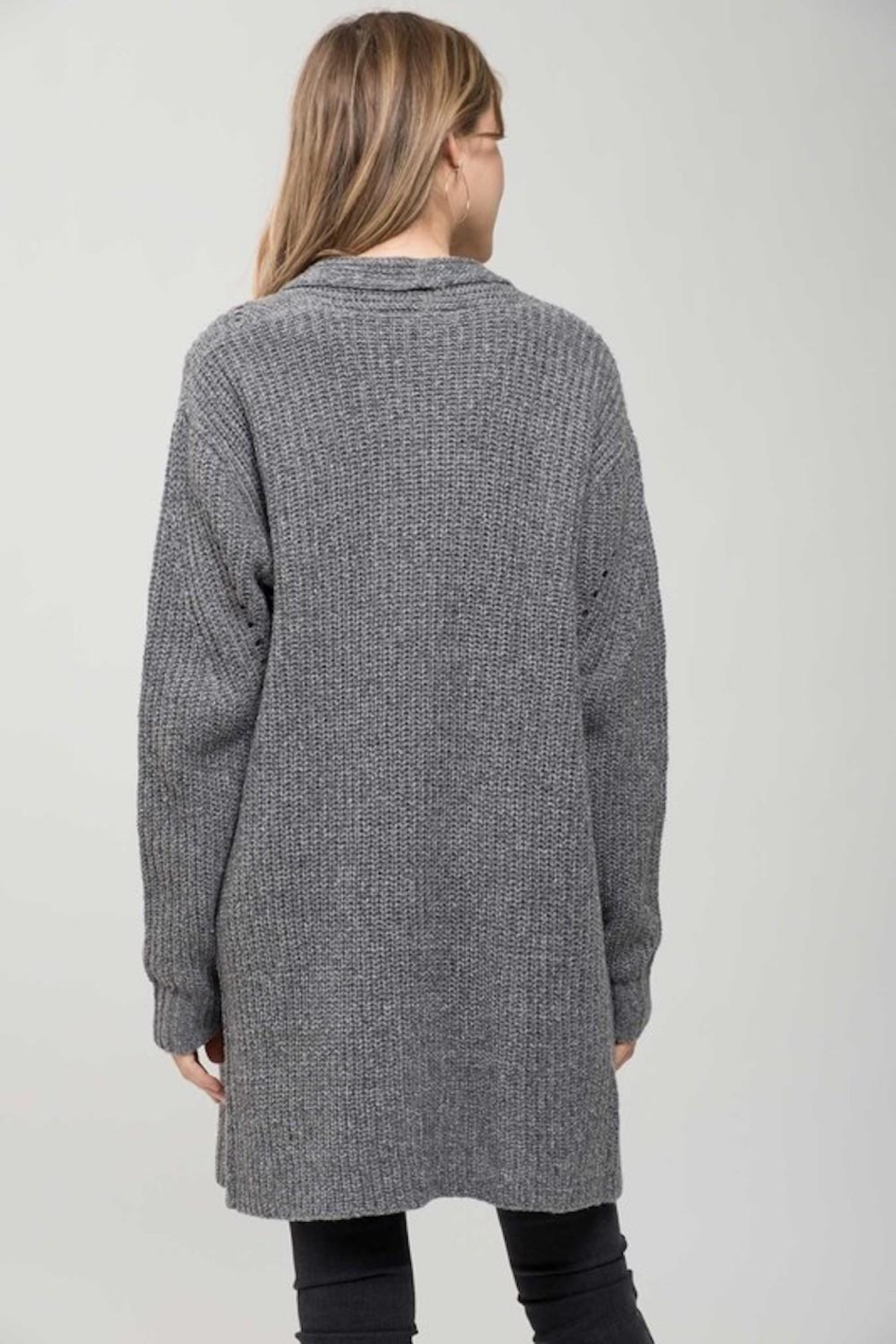 Mine Must Have Chunky Cardigan - Back Cropped Image