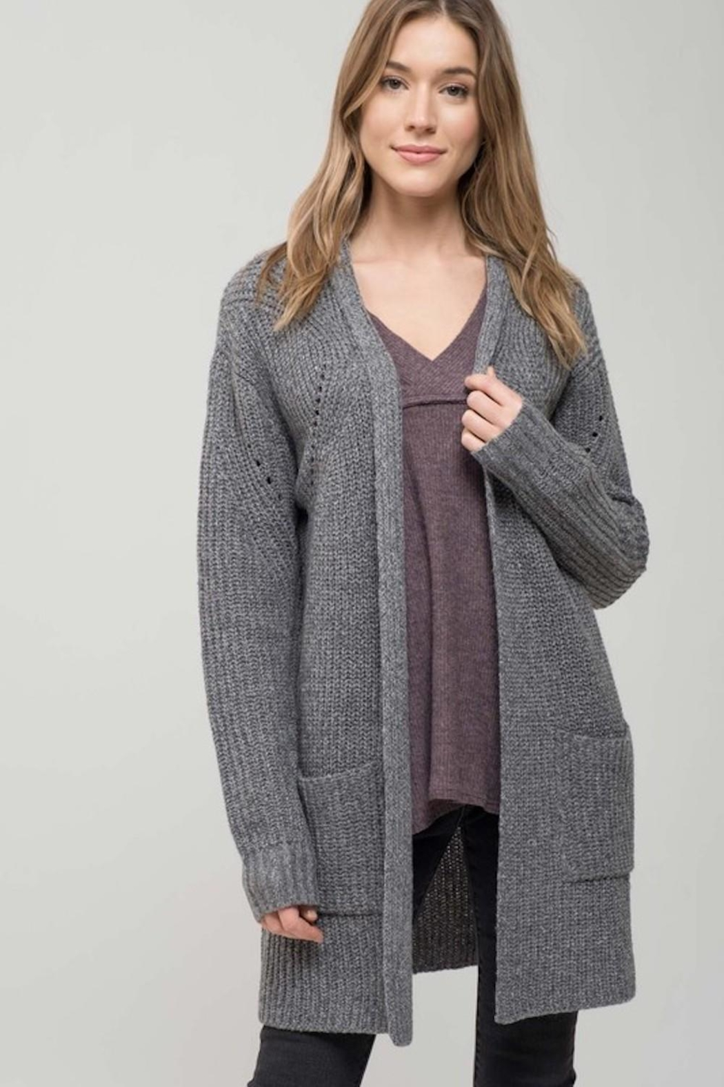 Mine Must Have Chunky Cardigan - Front Cropped Image