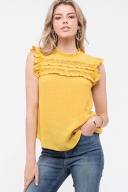 Mine Mustard Lace Detailed Top - Product Mini Image