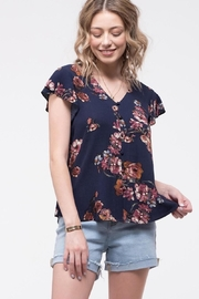 Mine Navy Floral Button-Up - Product Mini Image