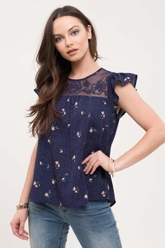 Mine Navy Floral Lace - Product List Image