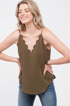 Mine Olive Scalloped Cami - Product List Image