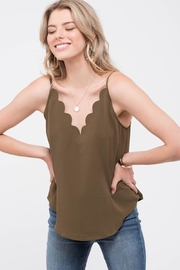 Mine Olive Scalloped Cami - Product Mini Image