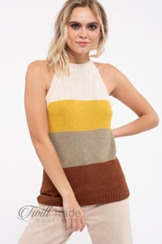 Mine Sleeveless Halter-Top Sweater - Front cropped