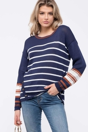 Mine Striped Knit Sweater - Front full body