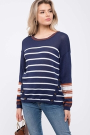 Mine Striped Knit Sweater - Front cropped