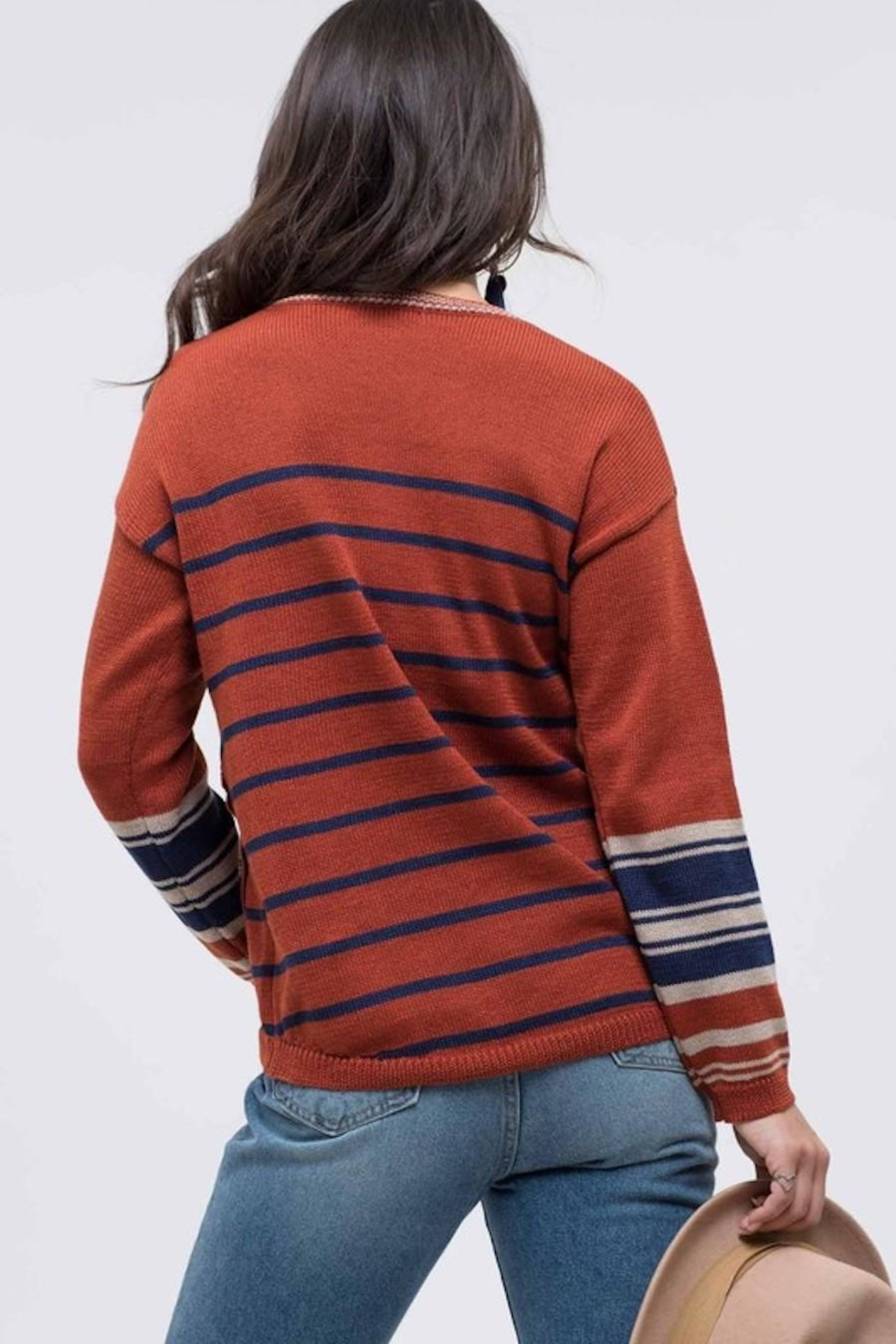 Mine Striped Knit Sweater - Front Full Image