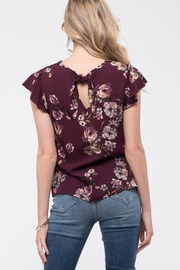 Mine Wine Floral Blouse - Back cropped