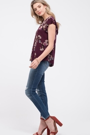 Mine Wine Floral Blouse - Side cropped