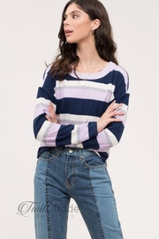 Mine and E&M Navy Back-Tie Sweater - Product Mini Image