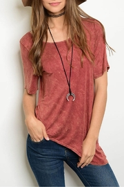 PRIMI Mineral Asymmetrical Tee - Front cropped