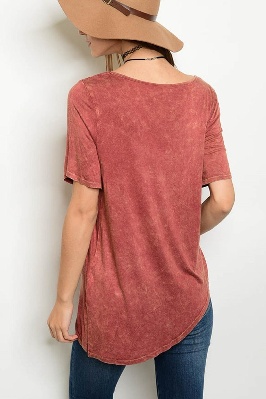 PRIMI Mineral Asymmetrical Tee - Front Full Image