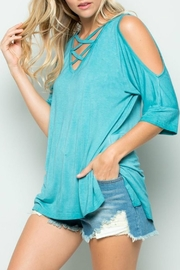 Izzie's Boutique Mineral Blue Tee - Product Mini Image