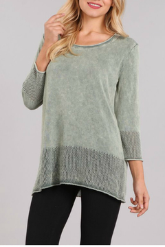 M. Rena Mineral Wash 3/4 Sleeve Tunic - Product List Image