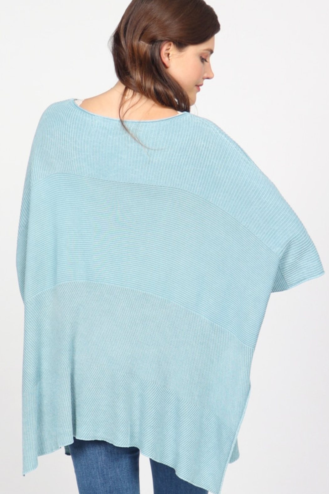 M. Rena Mineral Wash Scoop Neck Sweater - Side Cropped Image