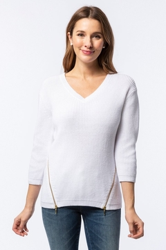 Shoptiques Product: Mineral Wash Shaker Sweater, White