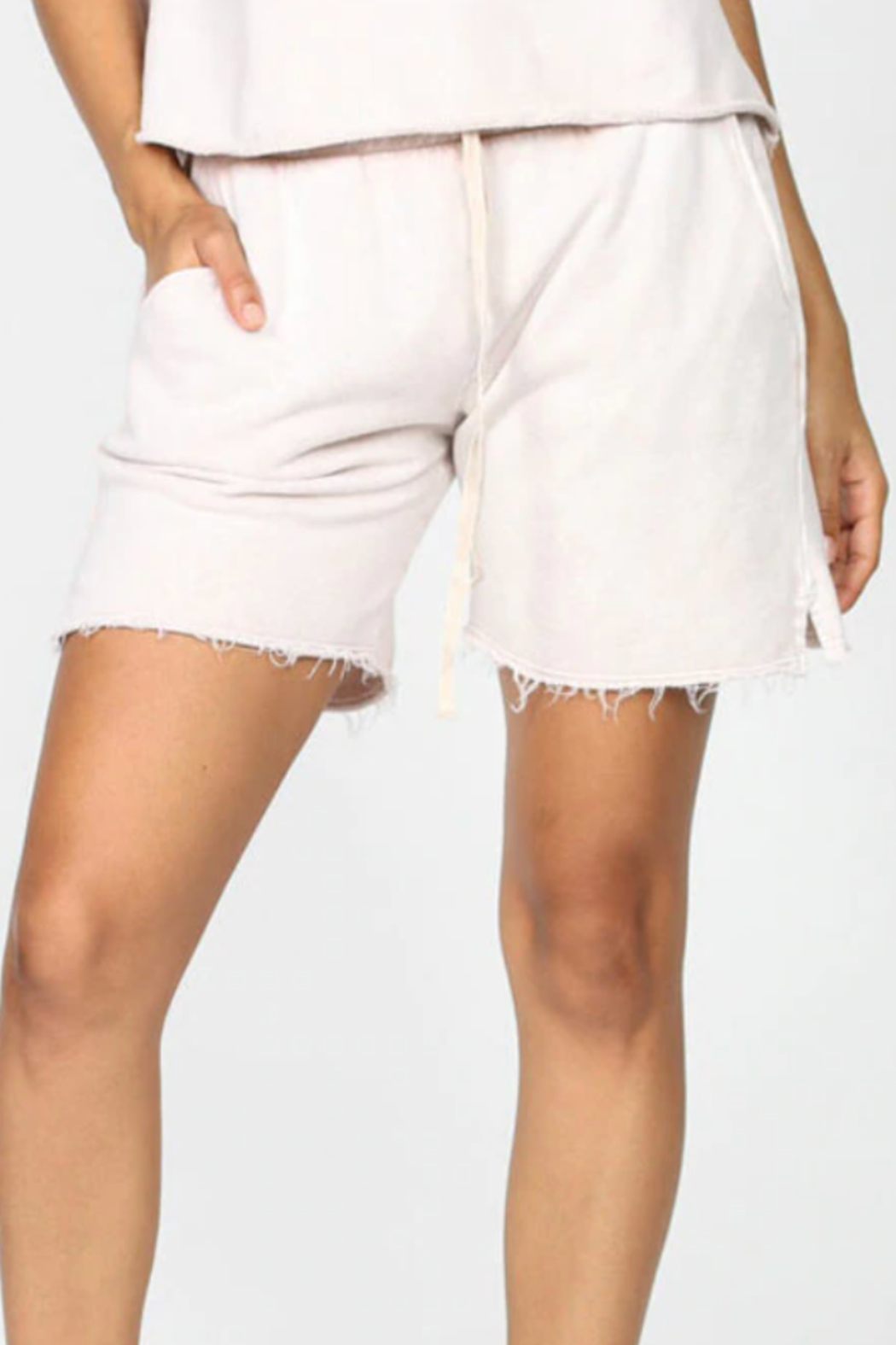 M.Rena Mineral Wash Shorts - Front Cropped Image