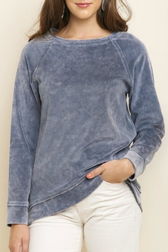 Umgee USA Mineral-Wash Velvet Pullover - Product List Image