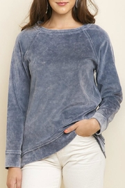 Umgee USA Mineral-Wash Velvet Pullover - Product Mini Image