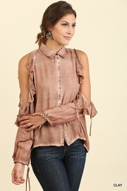 Umgee Mineral Washed Button-Up - Product Mini Image
