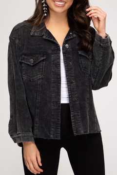 She + Sky Mineral Washed Corduroy Jacket - Product List Image