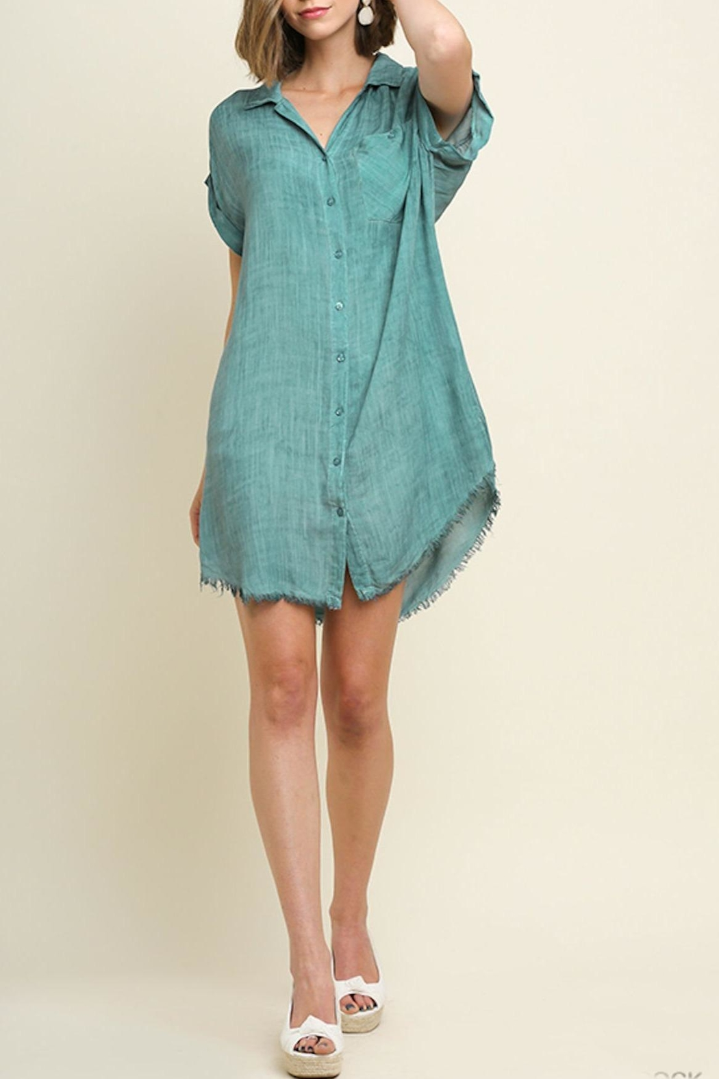 Umgee USA Mineral Washed Dress - Front Full Image