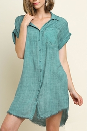 Umgee USA Mineral Washed Dress - Product Mini Image