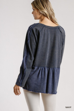 Umgee USA Mineral Washed French Terry Babydoll Top - Alternate List Image