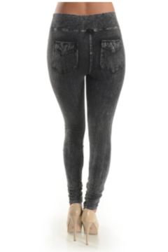 T Party Mineral Washed Jeggings with Double-Stitched Back Pockets - Alternate List Image
