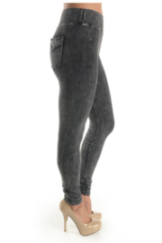 T Party Mineral Washed Jeggings with Double-Stitched Back Pockets - Product Mini Image