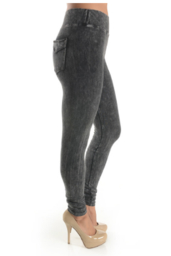 T Party Mineral Washed Jeggings with Double-Stitched Back Pockets - Product List Image